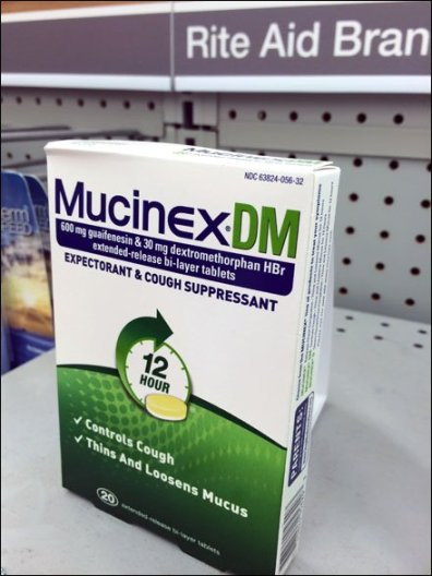 Mucinex BackStock Tent Sign 2