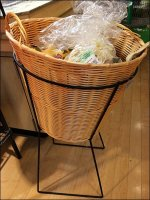 Wicker Basket One-Up Floor Stand