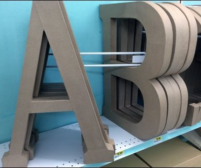 Angled Alphabetic Shelf Dividers 3
