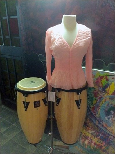 Bongo Drum Dress Form Front