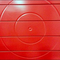 Red Concentric Ring Slatwall