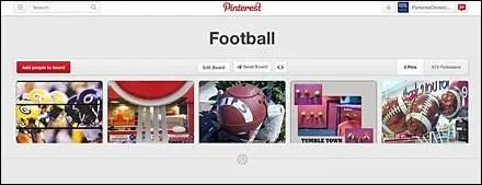 Football Pinterest Board