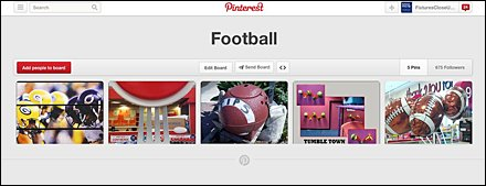 Football Pinterest Board