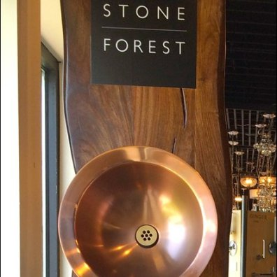 Stone Forest Sinks as Wall Bowl