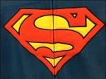 Adult Halloween Jammies SuperMan Logo