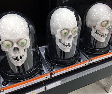 Bell Jar Skulls for Halloween Triple