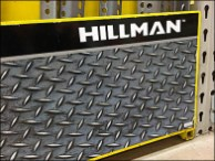 Hillman Faux Diamond Plate Display