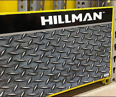 Hillman Faux Diamond Plate Display
