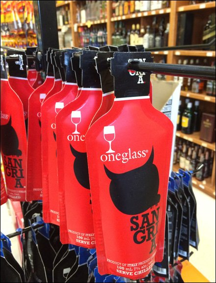 One-Glass Wine Pouch Sales