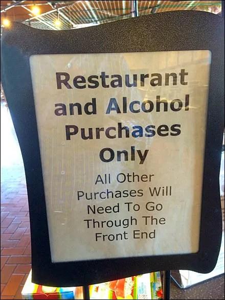 Restaurant Alcohol Freeform Sign Front