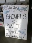 Snow Shovels and Salt Garden Dept Winter Changeover