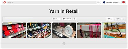 Yarn in Retail Pinterest Board