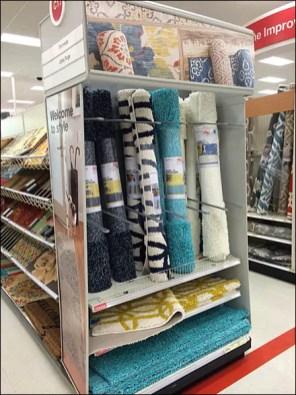 Carpet Endcap Upright Divided Display 1