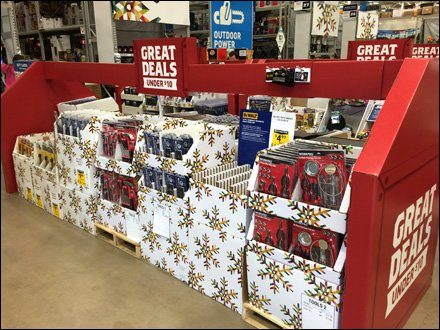 Christmas Under $10 Gift Cards on Corrugated Floyover