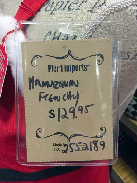 Pier 1 Christmas Frenchy Front Tag