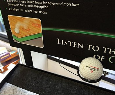 Floor Soundproofing Golf Ball Sound-Test Try-Me