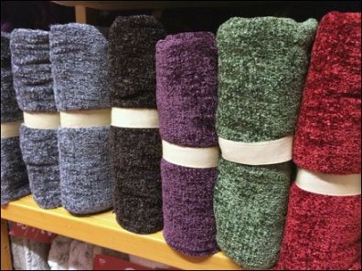 Ribbon Banded Plush Throws
