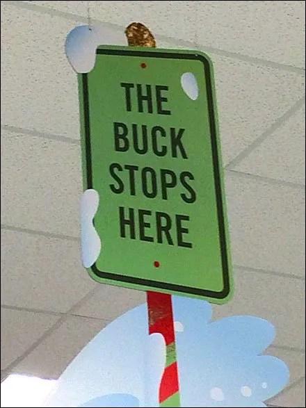 Target Reindeer Buck Stops Here Detail