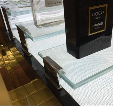 Chanel Bridged Glass Display 2