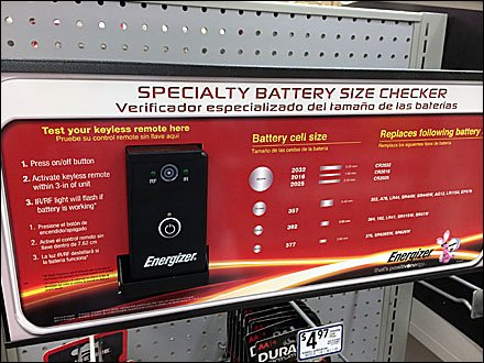 Energizer Battery Sizer In-Store