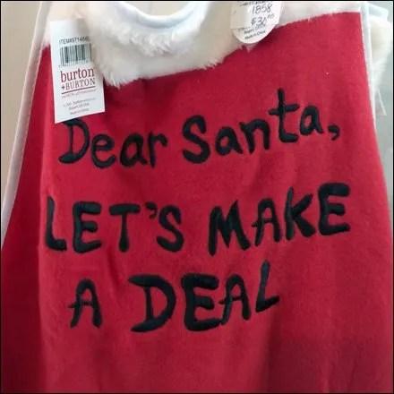 Santa Let's Make a Deal Aux