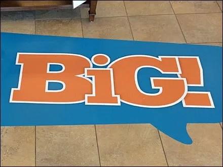 Save Big Floor Graphic Speech Balloon Visual Merchandising