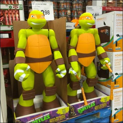 Lifesize Ninja Turtle Display