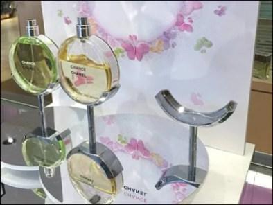 Chanel Fragrance Cradle on a Pedestal