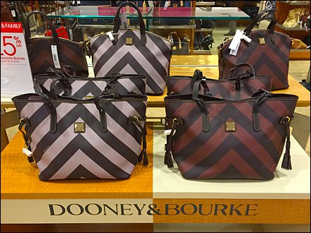 Dooney & Bourke Retail Fixtures - Dooney & Bourke Dazzle Paint Bi Polar Branding