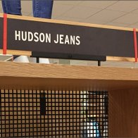 Hudson Jeans Square Hole Perforated Metal Bands Aug