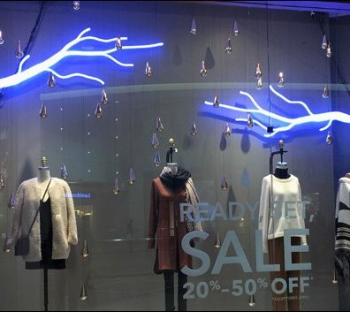 Neon Tree Branch Window Dressing 2