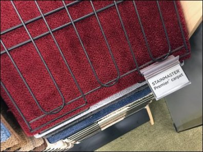 Stainmaster Carpet Sample Tabs 2