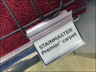 Stainmaster Carpet Sample Tabs 3