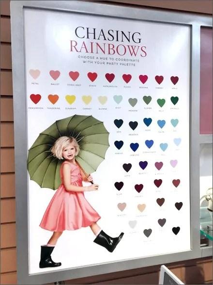 Umbrella In-Store Color Coordination