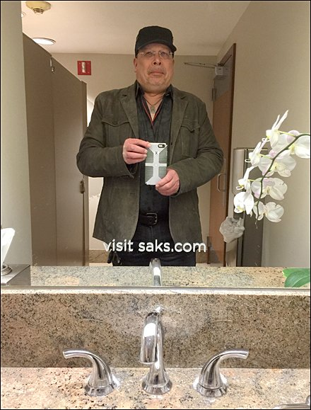 Shop Saks From Your Restroom Stall