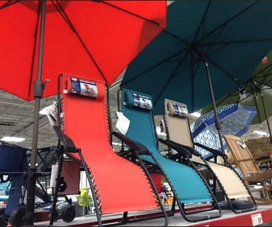 Beach Umbrella Warehouse Overhead 2