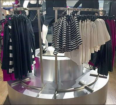 Curved Pedestal, Curved Clothing Rack Main