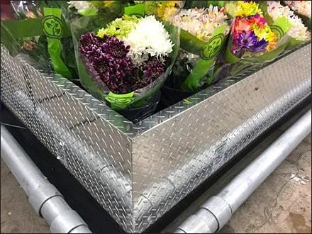 Diamond Plate Floral Arrangement Cooler