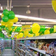 Euro Fixture: Balloon Branding in Green