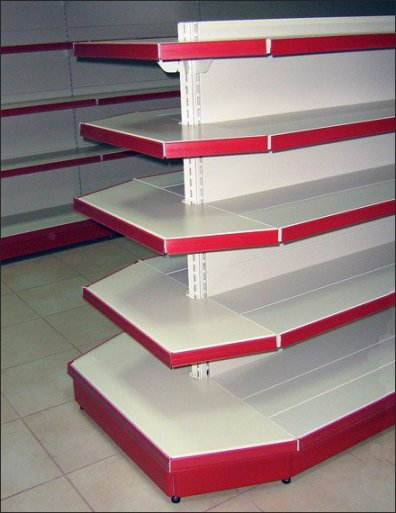 Euro Fixture Mitered Gondola Red Label Strip Main