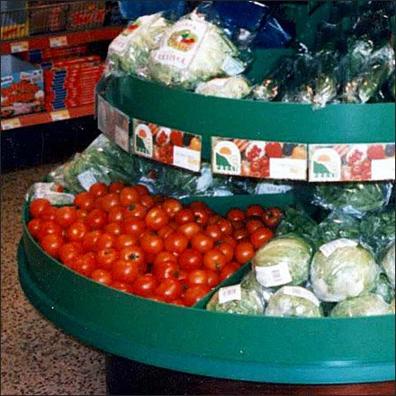Euro Fixture™ Gently-Eased, Round-End Produce Island