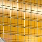 Grid Drop Shadow on Orange Closeup