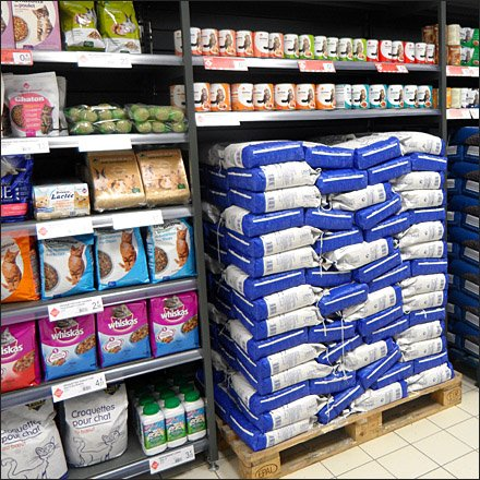Euro Fixture: In-Line Pallet Merchandising