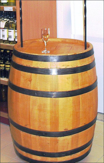 In-Store Wine Tasting Barrel Main