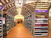 Euro Fixture Lighted Liquor Store Pergola Overhang