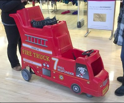 Mall Responder Double Deck Fire Truck Detail Aux