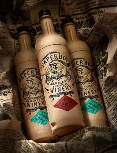 Paper Wine Bottle 2