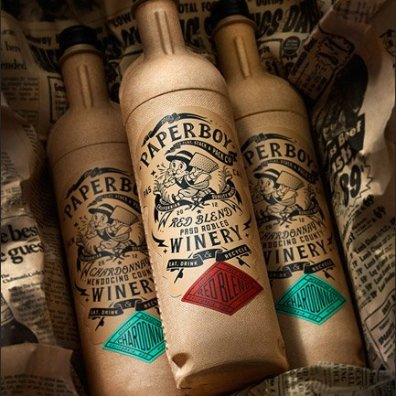 Paper Wine Bottle 2