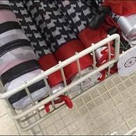 Sprint Rain Umbrella Endcap Baskets
