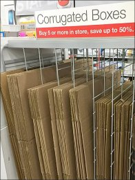 Staples Corrugated Box Dividers